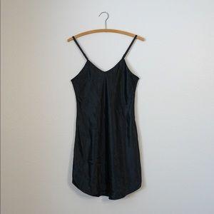 satin 1980s minimalist slip dress goth grunge